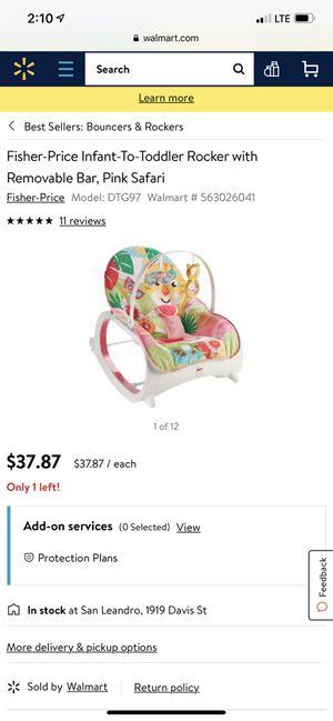 Photo Fisher Price Infant to Toddler Rocker Pink Safari