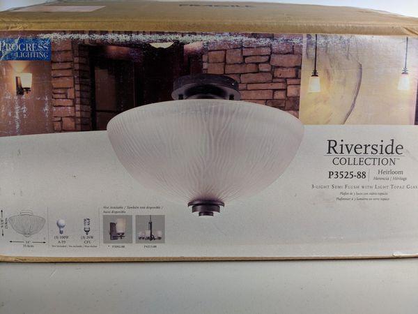 Progress Lighting Riverside Collection 4 Light Heirloom: Progress Lighting Riverside Collection Heirloom 3 Light