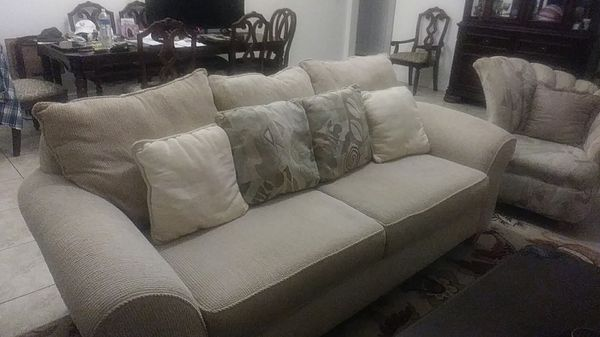 Top Of The Line Sofa And 2 Chairs Realistic Furniture Klaussners From N C