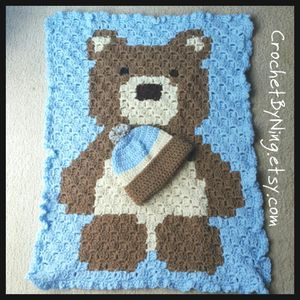 Baby Bear Car Seat Blanket & Hat Set, Crochet Hat, Crochet baby blanket, Baby Shower Gift, Newborn to 6 mos, Ready to Ship for Sale in Charles Town, WV