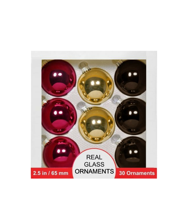 Over 60 Real Glass Christmas Ornaments, New