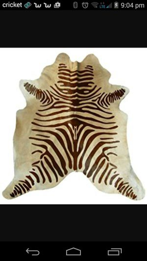 Used, Authentic zebra skin rug for sale  Tulsa, OK