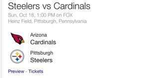 Steelers vs Cardinals for Sale in Pittsburgh, PA
