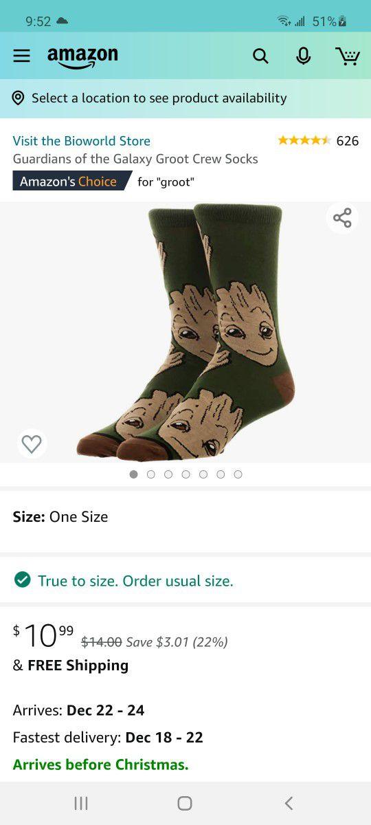 Guardians Of The Galaxy Crew Socks