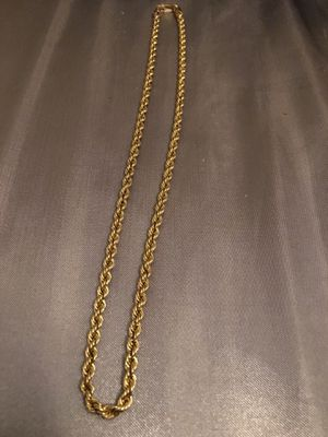 18inch REAL 10K Gold Necklace ( thick ) for Sale in Silver Spring, MD