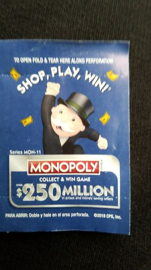 Monopoly Ticket 108AH NEEDED!!! Will trade ♡ for Sale in Seattle, WA
