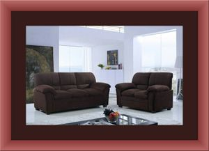 Chocolate microfiber sofa and love seat free delivery for Sale in Rockville, MD