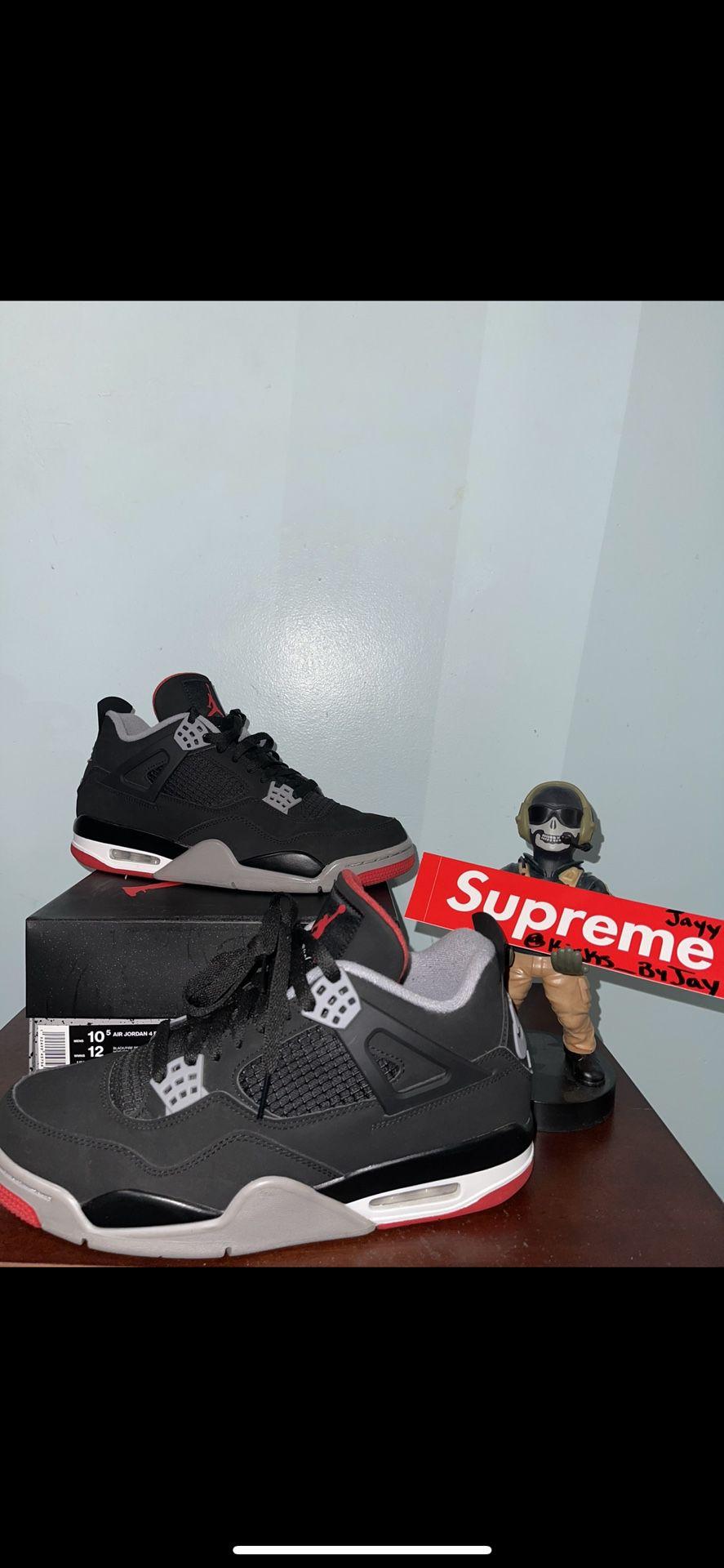 Jordan Bred 4s Size 10.5 Used