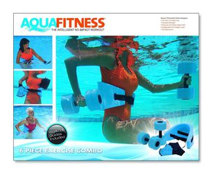 Aqua Fitness Exercise Set - 6 Piece Water Exercise Aerobic Belt, Barbells and for Sale in Dublin, OH