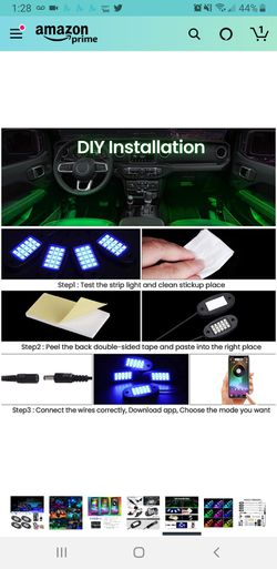 New in sealed box, RGB LED Rock Lights, 90 LEDs Multicolor Neon Underglow Waterproof Music Lighting Kit with APP & RF Control Thumbnail