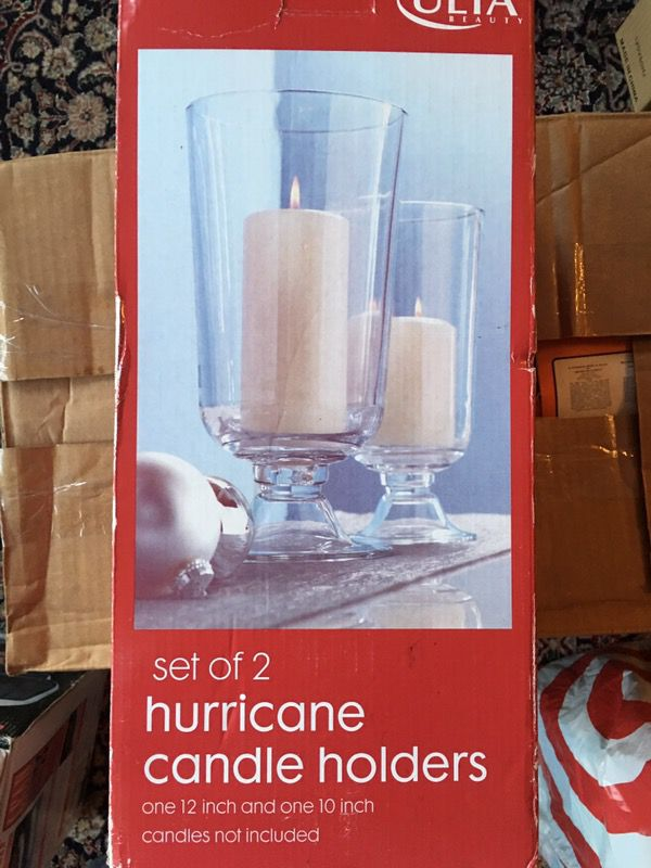 New Hurricane Candle Holders