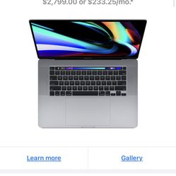 Apple Macbook Pro 16-inch 1TB Space Grey Thumbnail