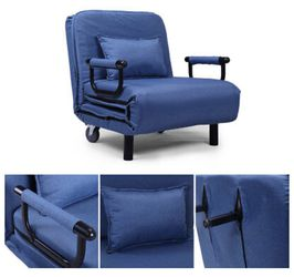 Sofa Bed Folding Arm Chair Width Convertible Sleeper Recliner Lounge New Thumbnail