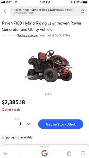 Raven 7100 Hybrid Riding Lawnmower Generator And Utility Vehicle For In Bristol Tn Offerup