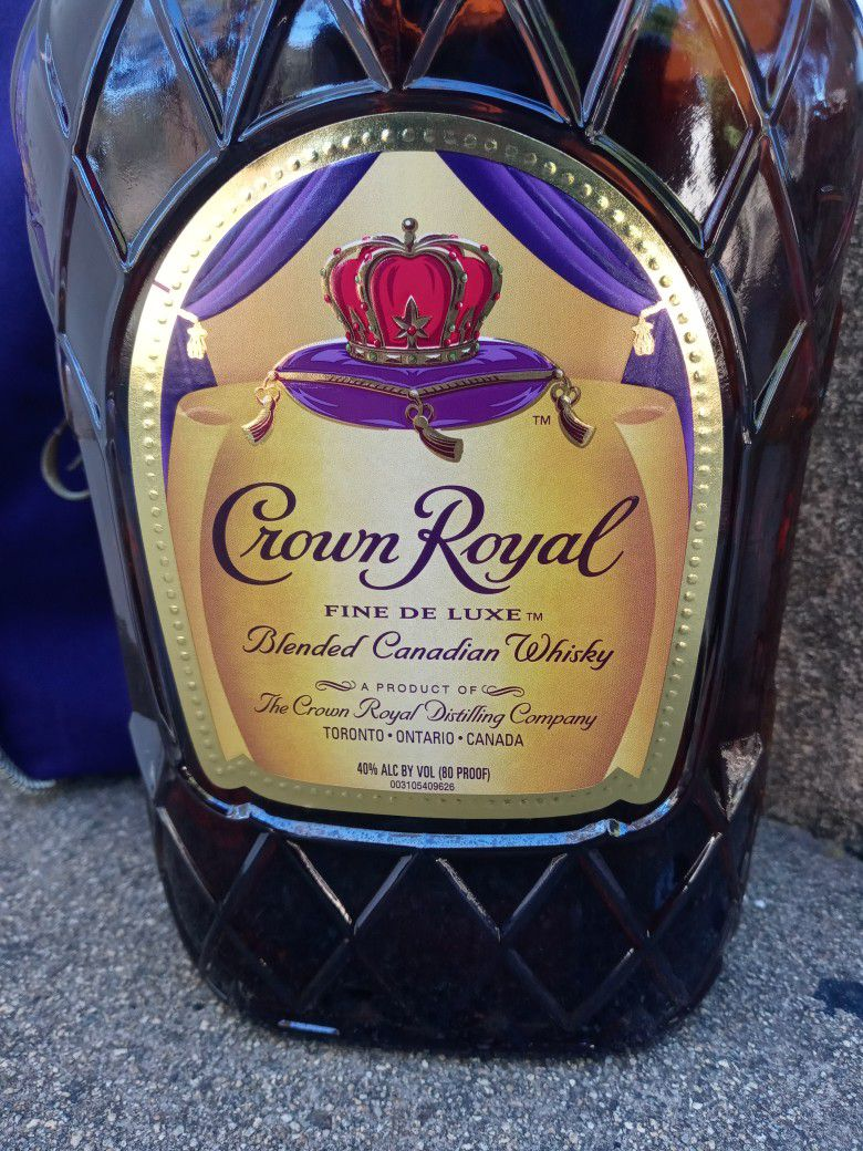 1.75 L Bottle Of Crown Royal W/ Bag And Box