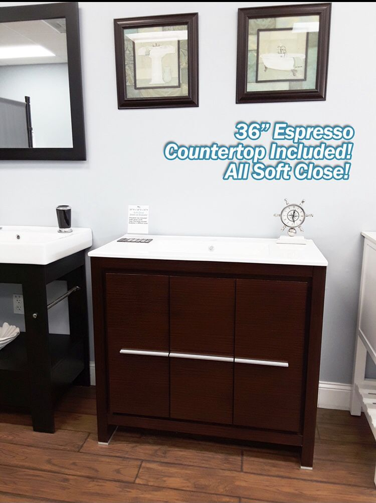 "36"" Bathroom Vanity Countertop Included✨"