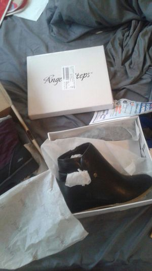 9/ and a half brand new woman leather boots for Sale in Washington, DC