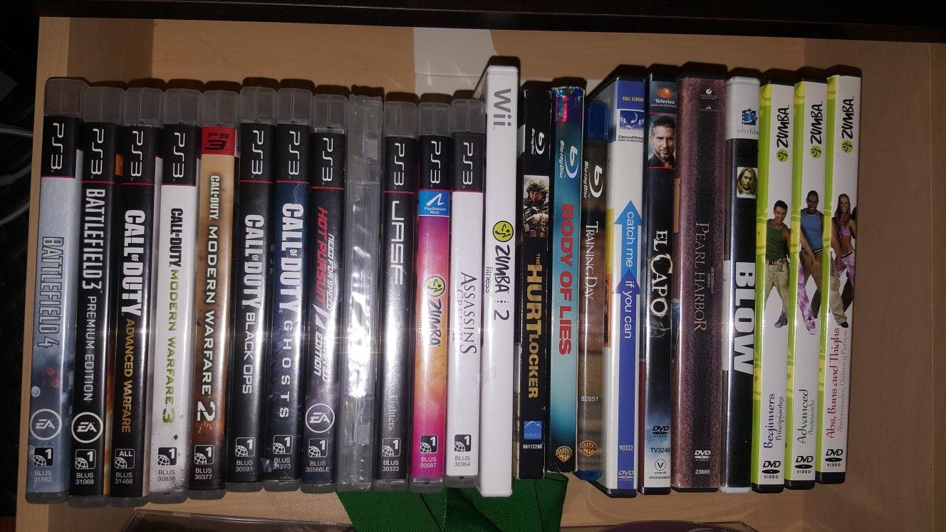 Blurays and DVDs