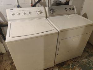 Photo Kenmore Elite washer and Whirlpool dryer