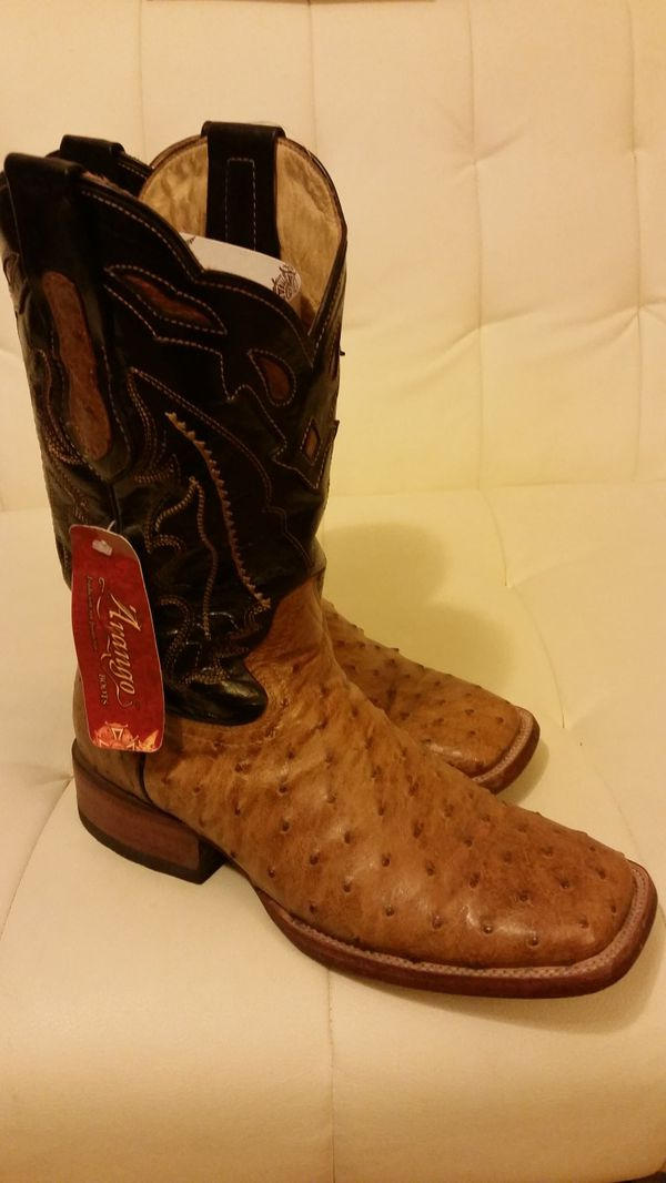 Botas Arango Full Quill Ostrich Rodeo Square Toe Boots Size 75 For