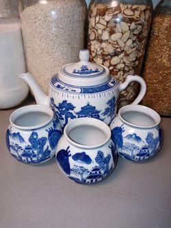 Chinese Porcelain Teapot Set Thumbnail
