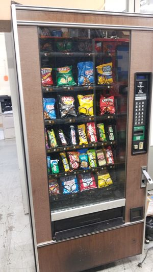 As is blowout sale firm price snack vending machine for Sale in Gaithersburg, MD