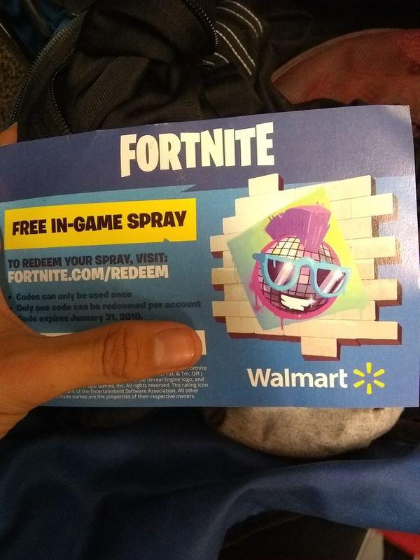 fortnite spray code - fortnite free in game spray code