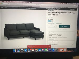 Sofa with wall decoration for Sale in Cleveland, OH