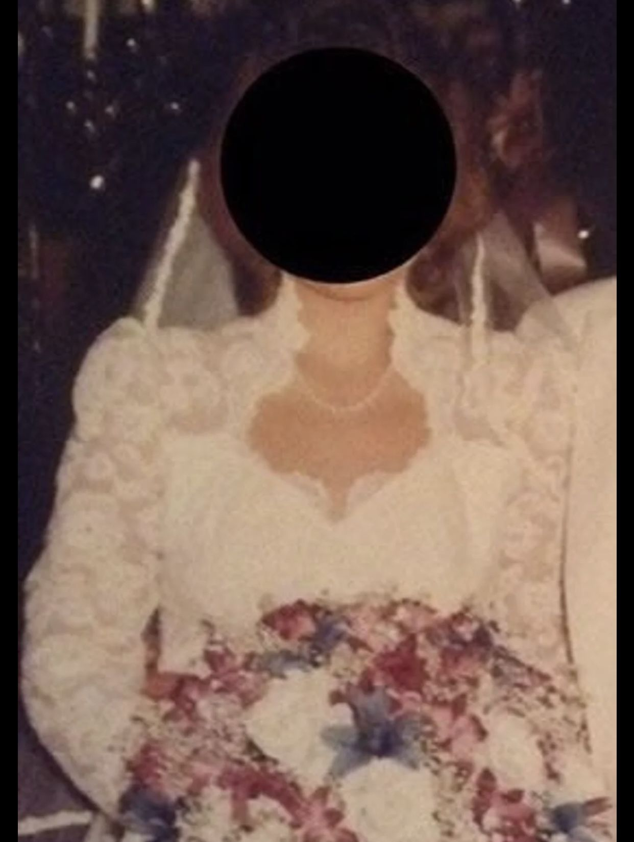 80's Style Wedding Gown