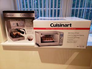 Cappuccino & espresso maker or cuisinart convection toaster oven for Sale in Oakton, VA