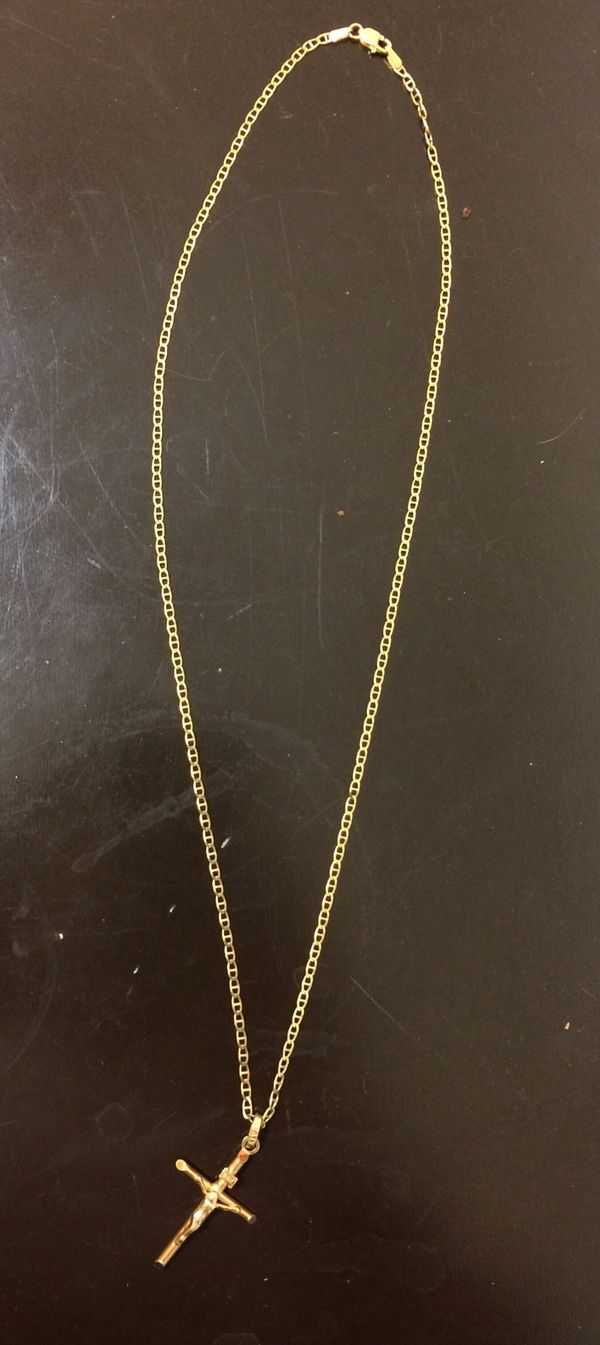 14 karat solid gold necklace and pendant for Sale in Garden Grove ...