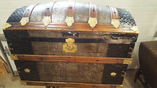 Rare Antique Camel Back Trunk For Sale In Forest Grove Or Offerup