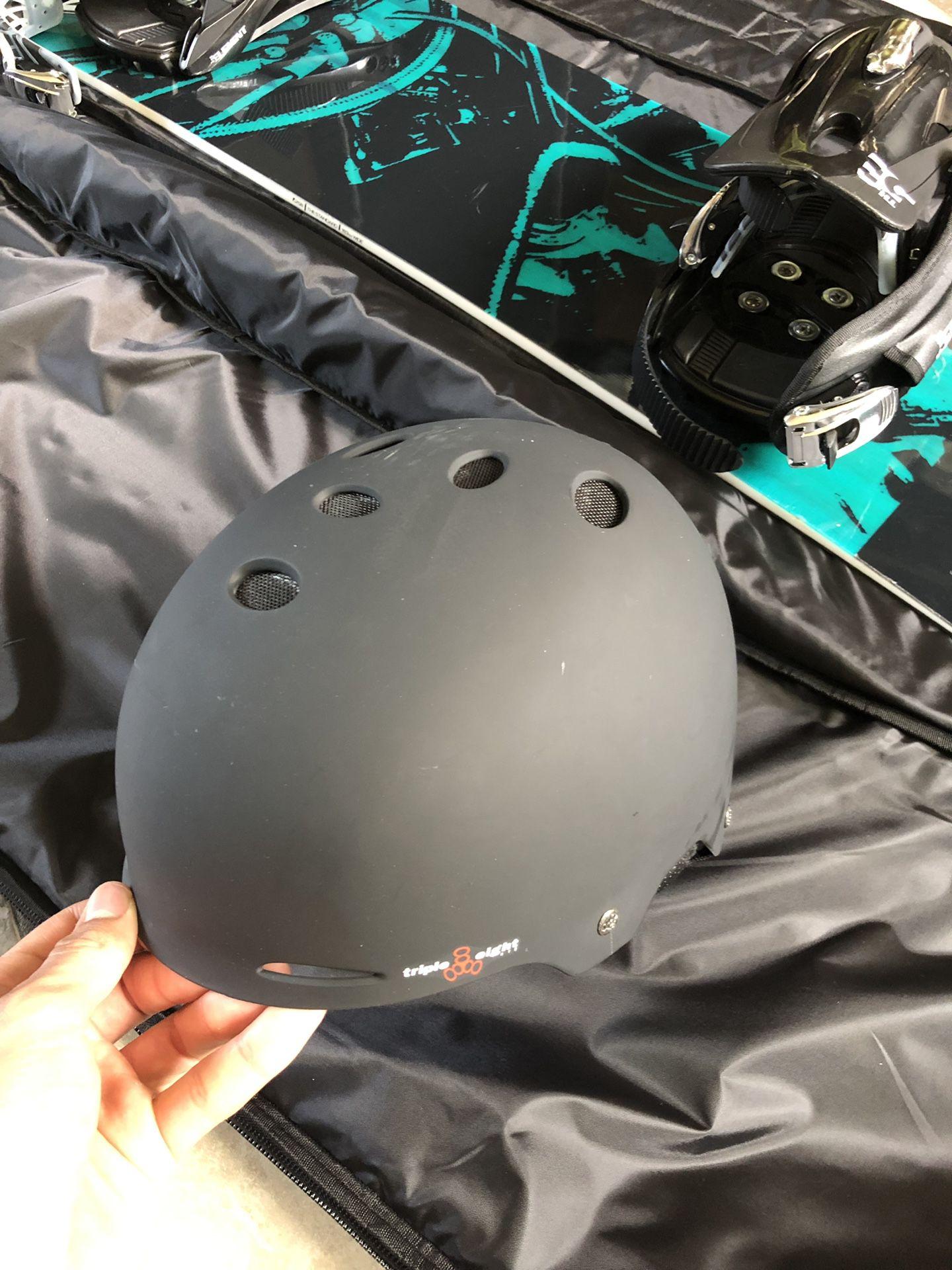 2017 K2 Snowboard 160cm (Element Bindings), Triple EightHelmet (Smith goggles), Demon Snowboard Bag