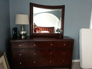 Queen bed and dresser with mirror for Sale in Leesburg, VA