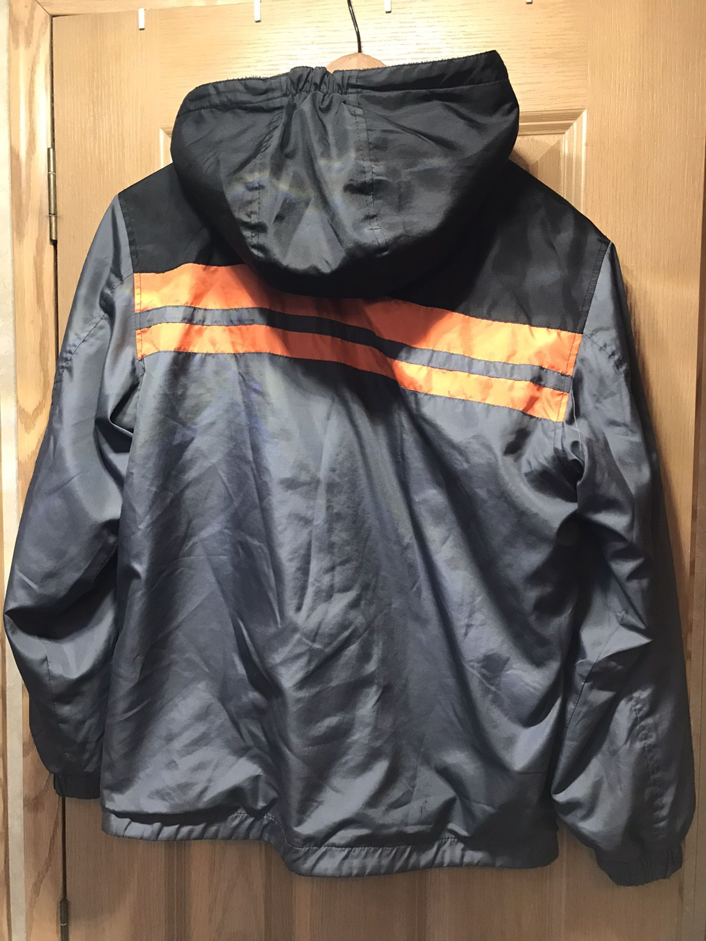 Boys size large 14-16 reservable Polo coat with hood