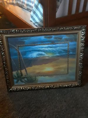 Picture frame metal with a smaller picture frame inside for Sale in Revere, MA