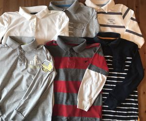 Boys Football Rugby Club Long Sleeve Striped Polo Shirt Youth Size M 7-8T for Sale in Alexandria, VA