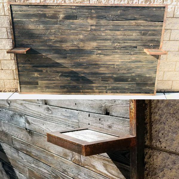 Rustic Headboard With Built In Nightstands For Sale Bakersfield CA