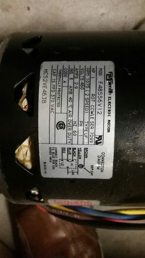 460AC motor rpm1075 2 speed 1hp for Sale in OR, US