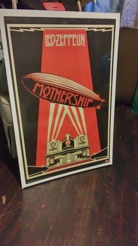 Large Led Zeppelin Mothership Poster