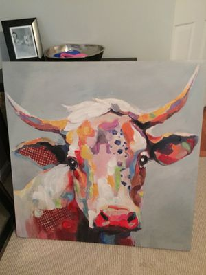 Colorful Cow Painting! for Sale in Atlanta, GA