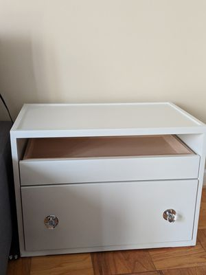 Two white side tables /night stands for Sale in Washington, DC