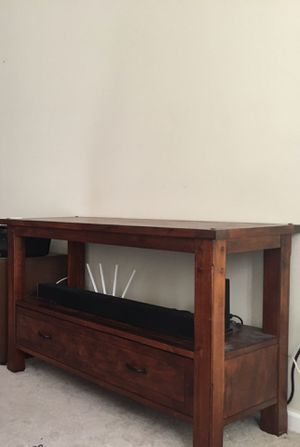 TV Entertainment Stand with chord storage and shelf for Sale in Alexandria, VA