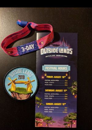 Outside lands ticket 3 day admission for Sale in San Francisco, CA