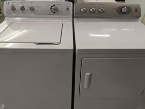 Photo GE Top load washer and dryer set 52