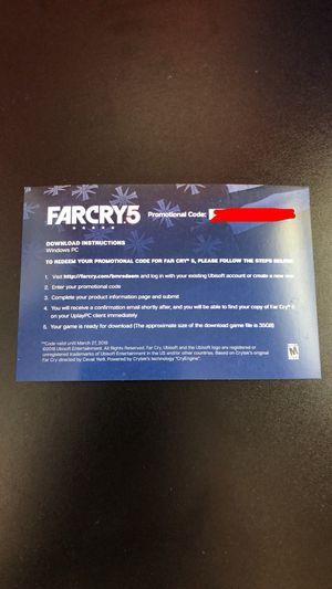 Far Cry 5 PC Download $60 Value for Sale in Pleasanton, CA