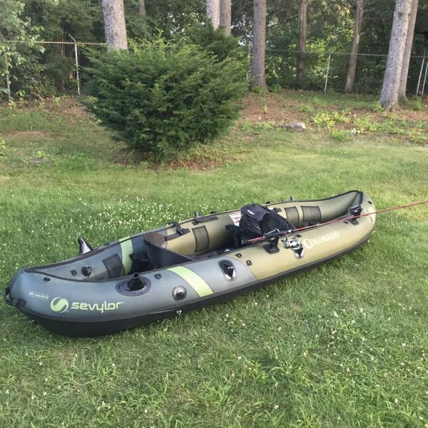 Kayak Inflatable fishing Sevylor Colorado HF Angler 2 person for Sale in  Westfield, MA - OfferUp