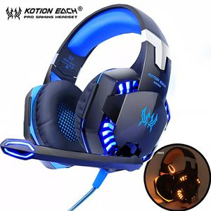 KOTION EACH Gaming Headphones Headset Deep Bass Stereo wired gamer Earphone Microphone with backlit for PS4 phone PC Laptop for Sale in Westlake, MD