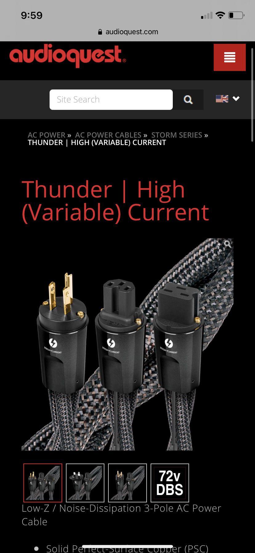 Audioquest Thunder