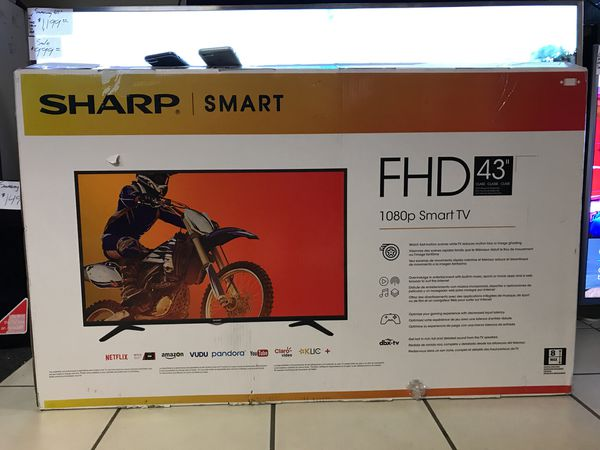 "43"" Sharp Smart 1080p Led Tv for Sale in Perris, CA - OfferUp"